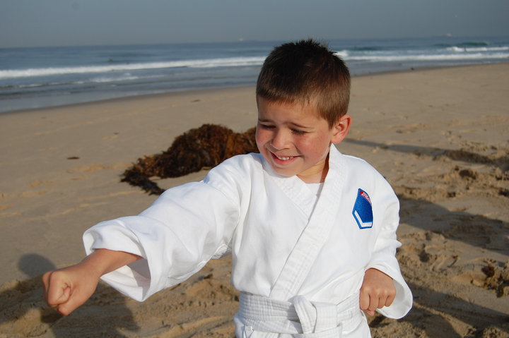 Karate For Your Body On The Beach